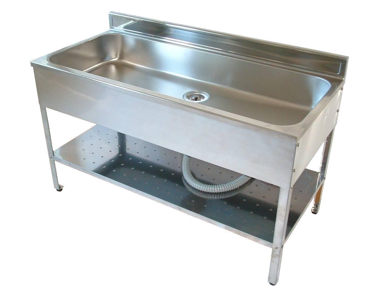 アウトドアキッチンのステンレスの外流し台の120センチ幅