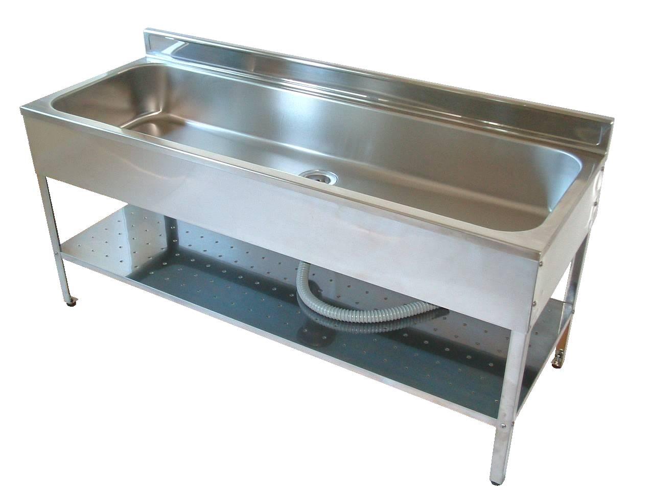 アウトドアキッチンのステンレスの外流し台の150センチ幅