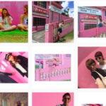 インスタグラム(Instagram)の投稿 ピンクの壁が人気とテレビでやっていました。